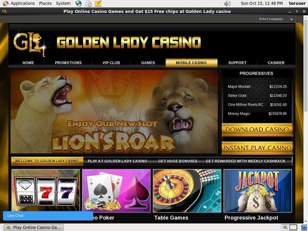 Goldenladycasino Rewards Code