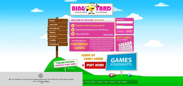 Bingo Yard Casino Test