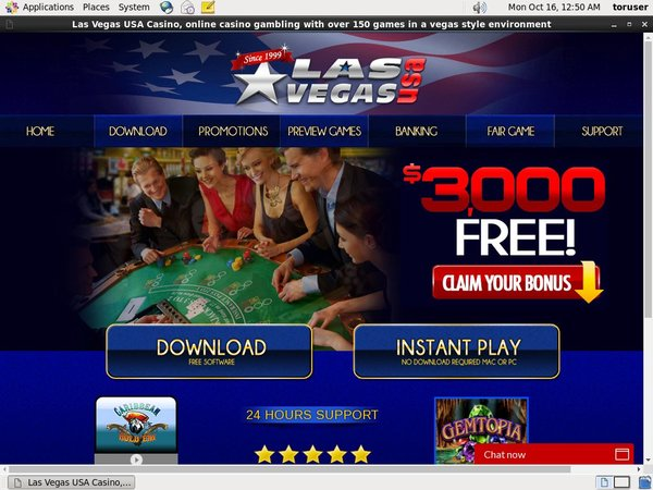Las Vegas USA Casino With Gift Card