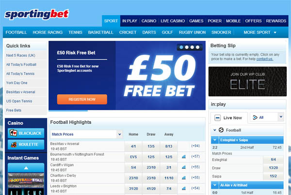 Sporting Bet UK Casino Games