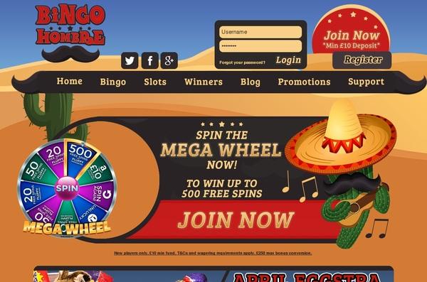 Bingo Hombre Offer Bonus