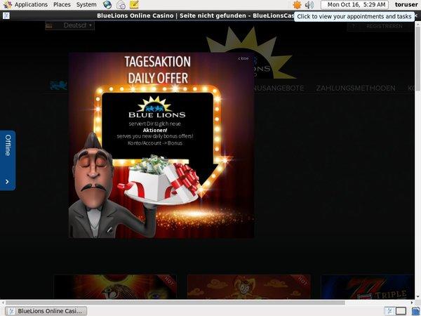 Bluelionscasino Promotional Code
