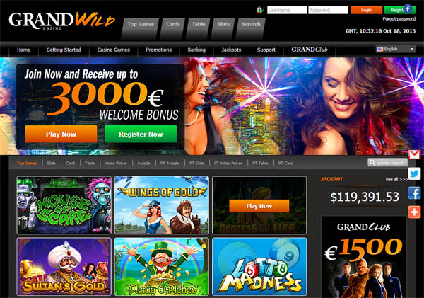 Get Grand Wild Casino Account