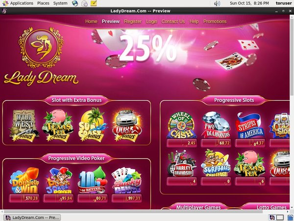 Lady Dream Desktop Site Login