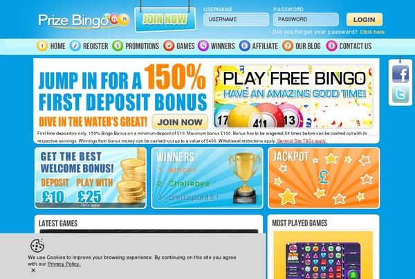 Prize Bingo Racing Today