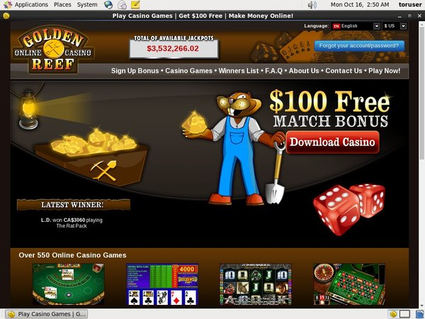 Goldenreefcasino Pay By Mobile