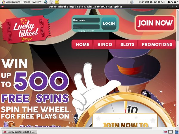 Lucky Wheel Bingo Refer A Friend Bonus