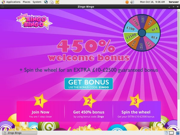 Zingobingo New Player Bonus