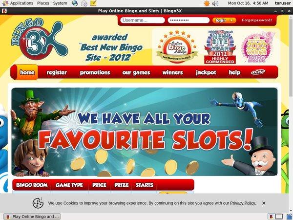 Bingo 3X Get Free Spins