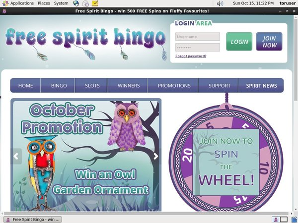 Claim Free Spirit Bingo Bonus