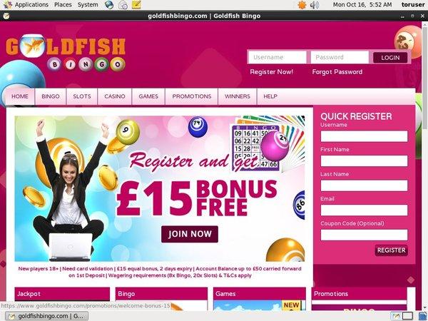 Goldfish Bingo Online Casino Roulette