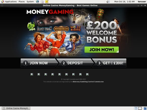 Moneygaming Bonus Rules
