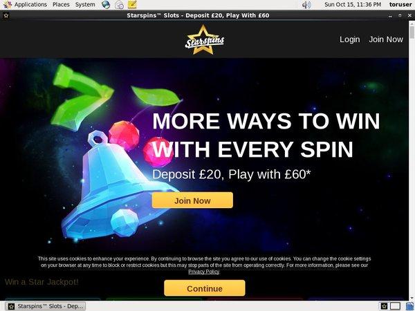 Star Spins Online Casino Jackpot