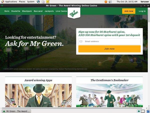 Mr Green New Customers